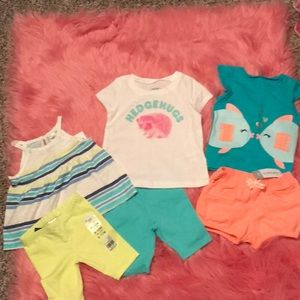 Infant Osh Kosh and Carter's shorts and tops